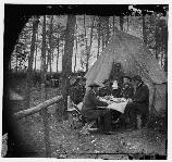 Officers dinner, at the Brandy Station encampment.
