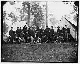 Officers of the 80th New York Infantry. Winter encampment near Brandy Station, Virginia.