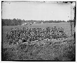 The men of the 2nd United States Artillery. The picture was taken near Brandy Station, Virginia.