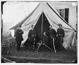 Army of the Potomac Chief of Staff Brigadier General Andrew Humphreys. Humphreys became Chief of Staff following the Battle of Gettysburg. Prior to his promotion, Humphreys commanded a division in the Union 5th Army Corps and 3rd Army Corps.