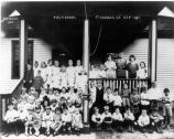 Children pose for Fort Hancock School Photo, 1921.