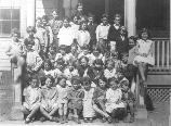1929 class photo at Fort Hancock School.