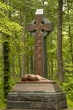 The celtic cross and Irish wolfhound adorn the monument to the 63rd, 69th and 88th New York regiments of the famous