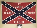 Flag representing the 5th Florida Infantry, carried in the commemoration of Pickett's Charge at Gettysburg in July 1963.