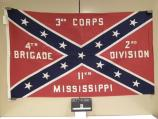 Flag representing the 11th Mississippi Infantry, carried in the commemoration of Pickett's Charge at Gettysburg in July 1963.