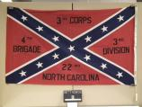 Flag of the 22nd North Carolina Infantry carried at the observance of the 100th anniversary of the battle of Gettysburg in 1963.