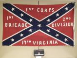 Flag of the 19th Virginia Infantry carried at the observance of the 100th anniversary of the battle of Gettysburg in 1963.