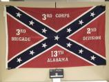 Flag of the 13th Alabama Infantry carried at the observance of the 100th anniversary of the battle of Gettysburg in 1963.
