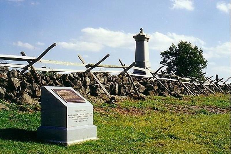 Stone wall on Cemetery Ridge