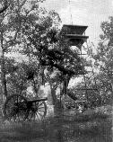 The 1895 observation tower on the summit of Culp's Hill.