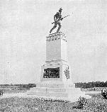 The monument to the 1st Minnesota Infantry was dedicated in 1897.