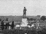 The statue to General John Buford overlooks the scene of action from McPherson's Ridge.