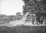 The High Water Mark and other monuments on Cemetery Ridge, taken in 1910.