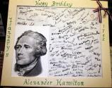 signed hamilton Birthday card