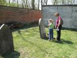 Visitors learn about the family by visiting the cemetery during the scavenger hunt.