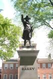 Statue of Commodore John Barry on Independence Square, south of Independence Hall