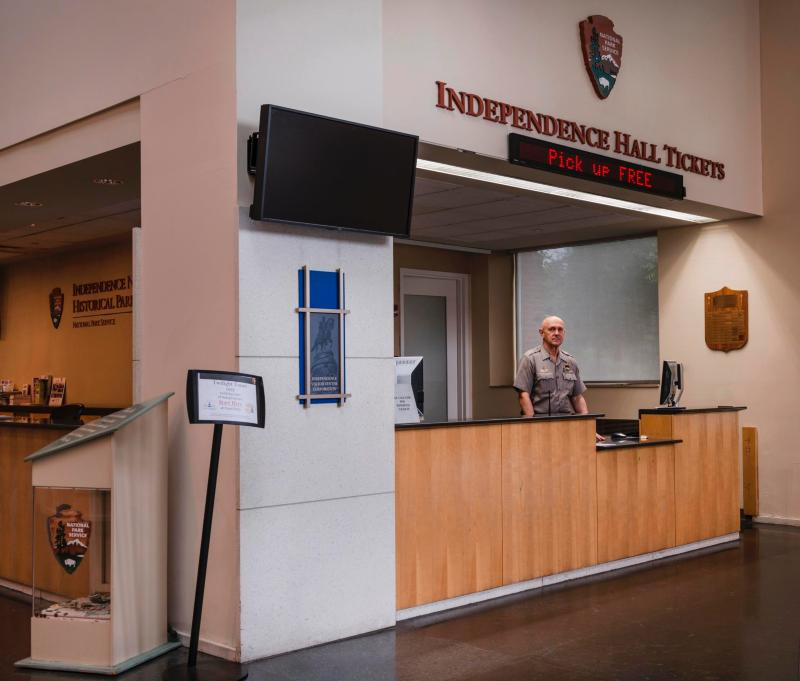 Independence Visitor Center Ticket Desk For Hall Tickets