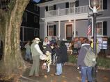Trick or Treaters gather at 83 Beals Street