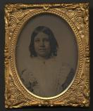 Ambrotype of Alice M. Longfellow, age 10, 1860.