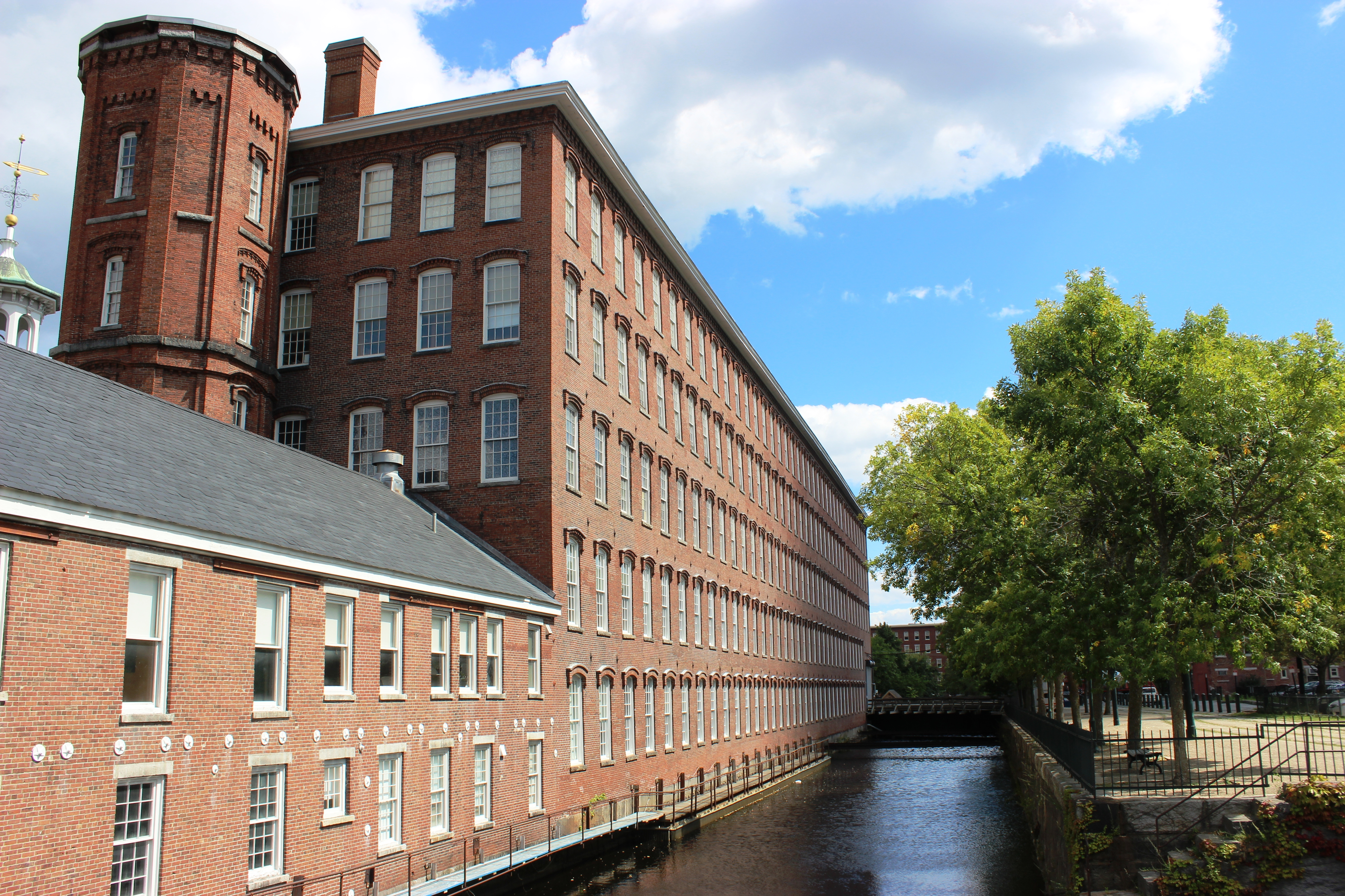 mill building by canal