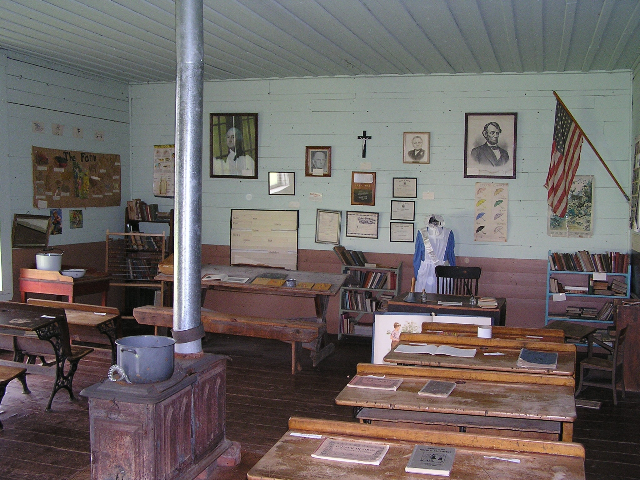 Interior Of Hamlin School Acadian Village Download 15 MB