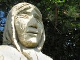 Statue of Acadian woman