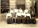 IOSL staff in front of St. Luke building, c. 1920s.