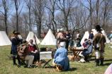 Volunteers portray camp life at the Spring Encampment, held annually in April.