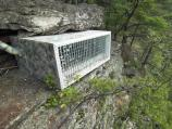 hack box on cliff face