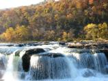Sandstone Falls in autumn
