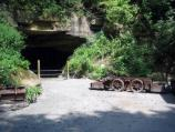 coal car and mine entrance