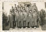 black and white photo of graduates