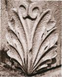 black and white photo of stone carving