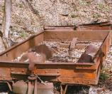 old rusty coal mine car