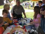 National Junior Ranger Day coincided with the annual Richmond Civil War Day at historic Tredegar Iron Works. Education Specialist developed the activities of the day to help kids learn about the Civil War.