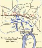 Map of the battle of New Market Heights