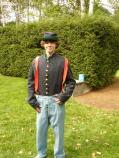 Child reenacting a Civil War Soldier