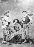 Hiking trip to Naples- from left to right, George Dubois, Augustus Saint-Gaudens and Ernest Mayor.