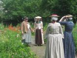 Four ladies in the Derby Garden
