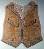 This brightly embroidered waistcoat belonged to the famous merchant Elias Hasket Derby