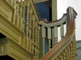 The finely carved staircase of the Derby House was a mark of the wealth of its owners.
