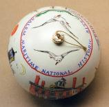 Seagulls adorn the top of Salem Maritime's 2007 White House Ornament.