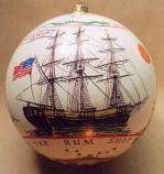 The replica tall ship Friendship of Salem is one of the scenes depicted on Salem Maritime's 2007 White House Ornament.