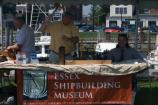 Staff from the Essex Shipbuilding Museum demonstrate traditional shipbuilding techniques and talk about the history of shipbuilding in Essex County.