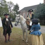Re-enactors portray George Washington and Benjamin Franklin during the Battle of Pell's Point Encampment at St. Paul's Church NHS, 2009.