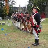Re-enactors depicting Gen. John Glover's Marblehead Regiment, a unit that anchored the American forces during the Battle of Pell's Point in the American Revolution.