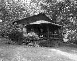 VA-119-52	SKYLAND. PERSPECTIVE VIEW OF BOULDER CABIN. LOOKING WEST.  More about HAER Photo Documentation...
