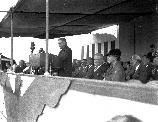 Sec. of Interior Ickes speaking at park dedication July 1936 (Franklin Delano Roosevelt sitting behind Ickes).