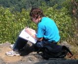 Journaling about the wilderness view.
