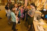 A Park Ranger swears in new Jr Rangers